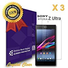 OnlineBestDigital - Sony Xperia Z Ultra Screen Protector, Crystal Clear / Transparent - OBD Retail Packaging (Pack of 3)