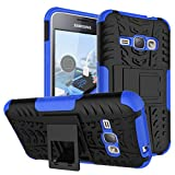 MOONCASE Galaxy J1 2016 Case Built-in Kickstand Hybrid Armor Case Detachable 2 in 1 Shockproof Tough Rugged Dual-Layer Case Cover for Samsung Galaxy J1 2016 Blue