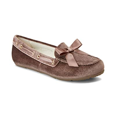 Vionic Women's Haven Alice Holiday Slipper - Ladies Moccasin Concealed Orthotic Arch Support | Slippers