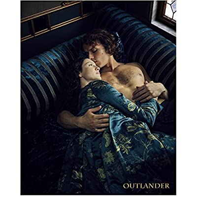 Caitriona Balfe 8 Inch x10 Inch Photograph Now You See Me Outlander Escape Plan Lying on Blue Couch w/Shirtless Sam Heughan kn
