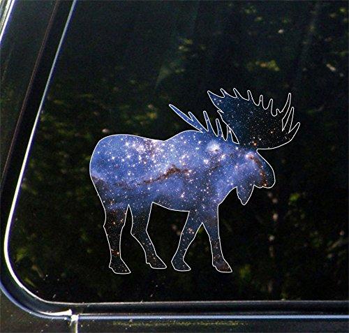 Cosmic Moose - Galaxy Spirit Animal - Vinyl Car Decal - Copyright Yadda-Yadda Design Co. (MD 5.5