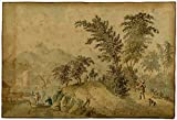Antique Drawing-LANDSCAPE-EAST INDIES-INDONESIA-Clemens-ca. 1690