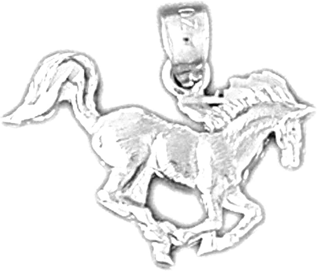 Sterling Silver 925 Horse Pendant 16 mm Jewels Obsession Horse Pendant
