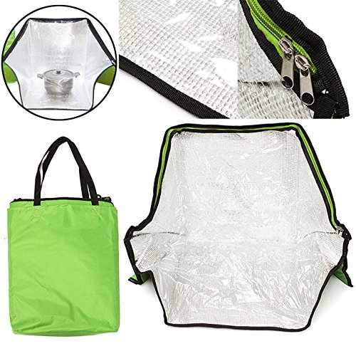 Green Portable Solar Oven Bag Cooker Sun Outdoor Camping Travel Emergency Tool for Cooking Solar Oven Bag by Unknown