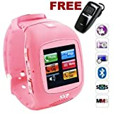G13 (with Micro 4GB) Pink Camera GSM Quad-band Watch Phone Picture