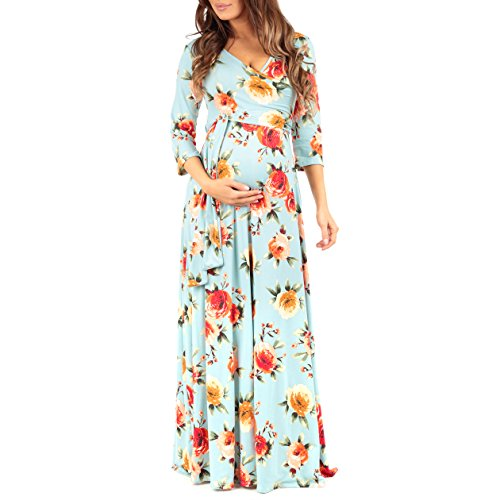ad3daa26123e8 Women's Faux Wrap Maternity Dress with Adjustable Belt - Made in USA. by  mother bee