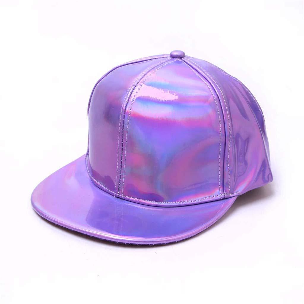 DDKK/_Hat Dad Hat for Men Women Baseball Solid Color Fluorescence Flat-Brimmed Hat Hip-hop Adjustable Cotton Hat