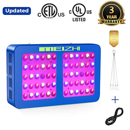 MEIZHI 300W 450W 600W 900W 1200W LED Grow Light Updated Version Reflector Series Full Spectrum for Indoor Plants Veg and Flower - Dual Switches and Daisy Chain 300W led Grow Light