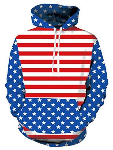 Coat Print Velvet (Uideazone Men's Pullover Fleece Hooded Sweatshirt Drawstring Top Blouse Tracksuits)