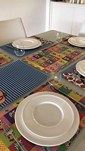 Petunia Disposable Paper Placemats-50 Count multiple design block.Chic & Unique paper placemats for your dining experience/parties/special events/showers.Very easy to clean up/(Table Pop, Bond) by Petunia (Image #8)