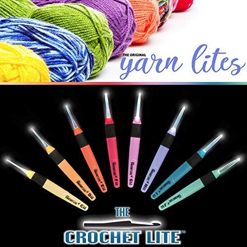 Light Up Crochet Hook Set - The Original Crochet Hook Lights, Set of 9 Hooks by Yarn Lites (Image #2)