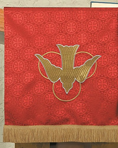 R.J. Toomey Red Polyester Holy Spirit Dove Embroidered Pulpil Scarf, 38 Inch by R.J. Toomey