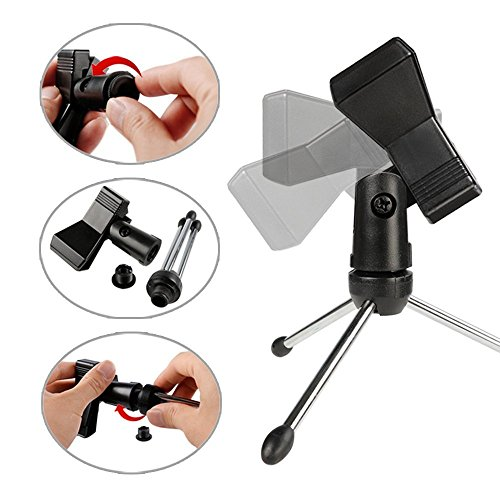 USB Condenser Mic Fifine Plug & Play Desktop Microphones For PC/Computer(Windows, Mac, Linux OX), Podcasting, Recording-White(K056) by FIFINE TECHNOLOGY (Image #9)