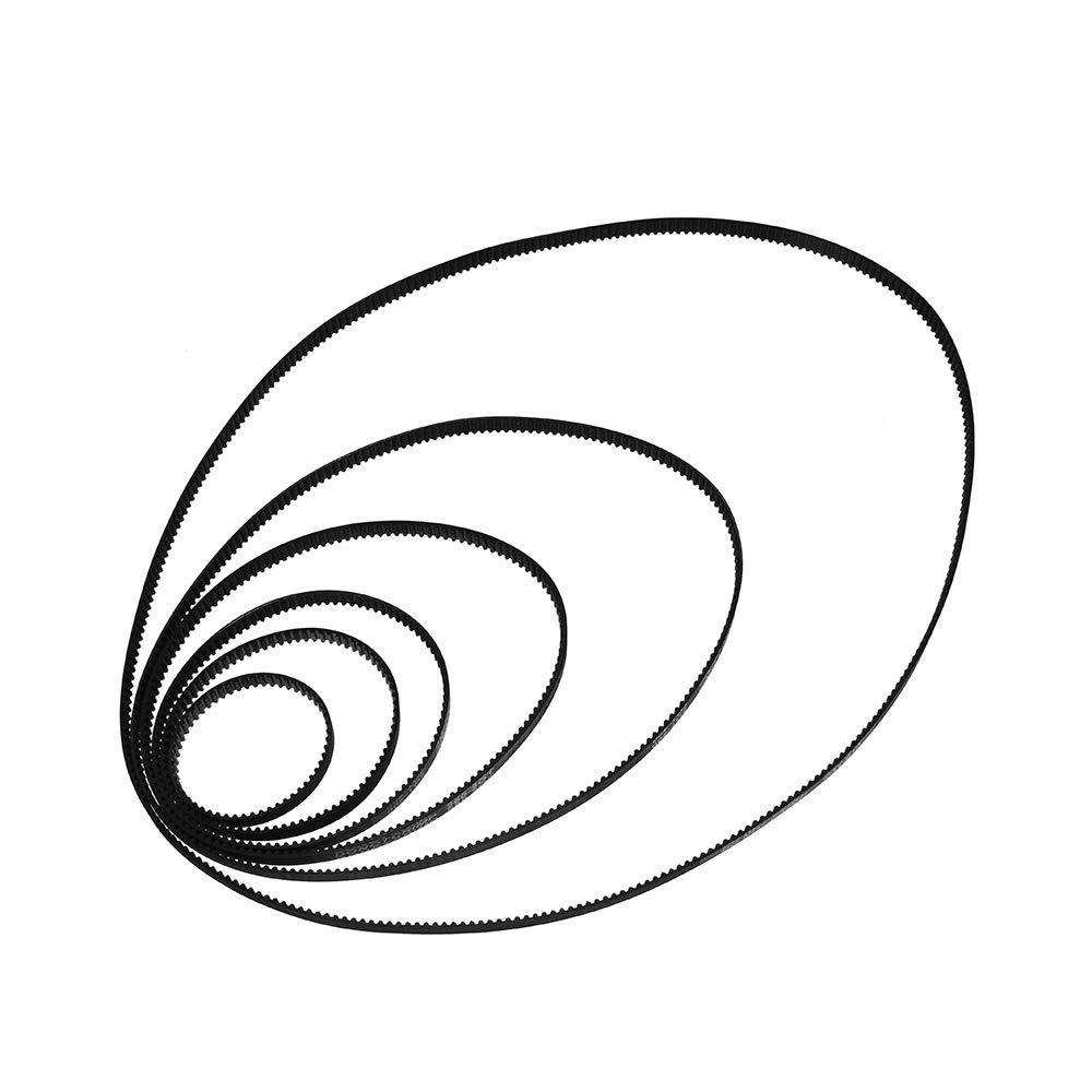 UsongShine Courroie de distribution pour imprimante 3D 200-2GT-6 Boucle fermée en caoutchouc 110/160/200/280/400/610/852/1220 mm Largeur 6 mm, noir, 610MM