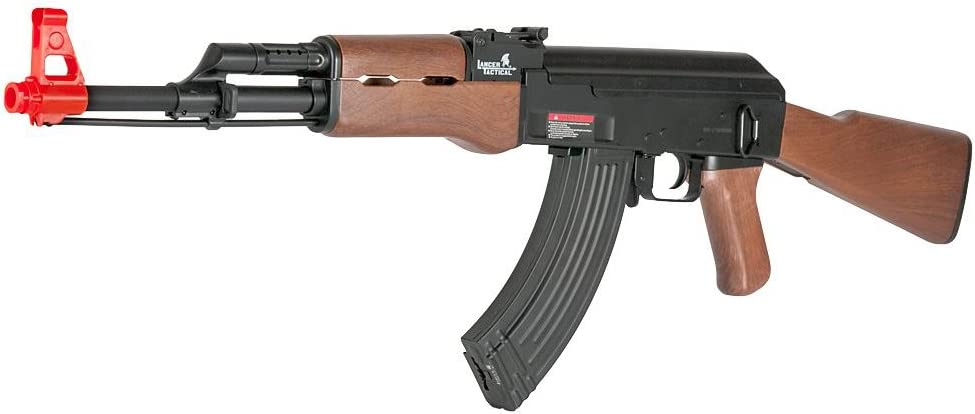 Lancer Tactical LT-16D AK-47 Airsoft Rifle AEG Metal Gear 415-FPS – Wood