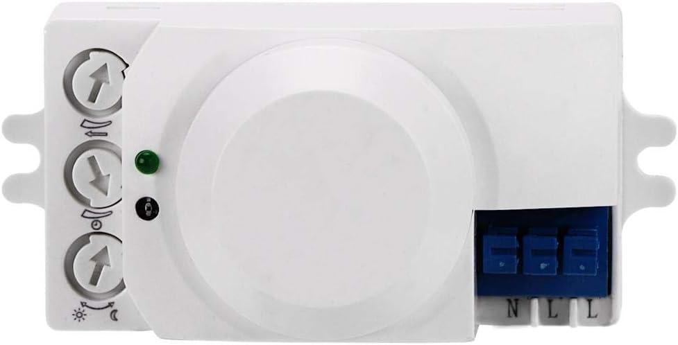BiuZi Smart Microwave Induction Switch 360 Degree Detection Intelligent Microwave Motion Light Sensor Switch 220-240V Sensor Switch