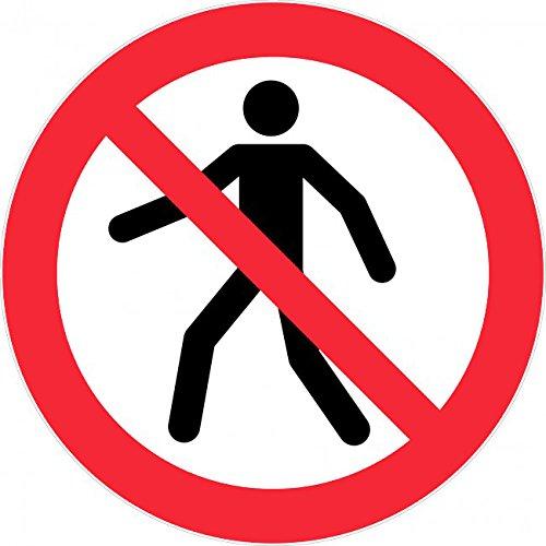 Novap Señal rígida de prohibido el paso a los peatones, 300 ...