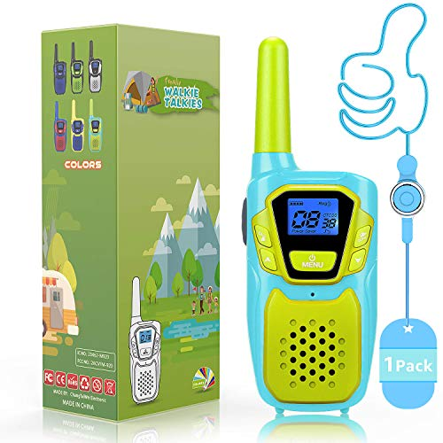 Topsung 2019 Best Kids Walkie Talkies for Girls Boys - 1 Pack VOX PTT Walkie Talkie for Adults Long Range Biking Boating - 22 Channel 2 Way Radio Walky Talky Toys Presents for Family Outdoor Adventure