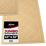 """SlipToGrip - Universal Door Mat with DuraLoop - XL 42""""x36"""" Outdoor Indoor Entrance Doormat - Waterproof - Low Profile Door Mat - Welcome - Front Door Garage Patio - PHTHALATE & BPA FREE"""