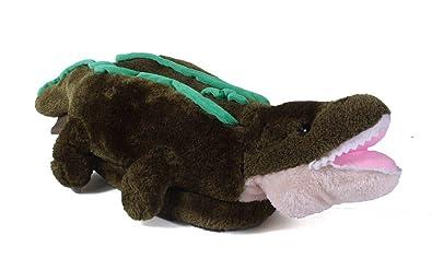 d692ec040454 9047-1 - Alligator - Small - Happy Feet Animal Slippers
