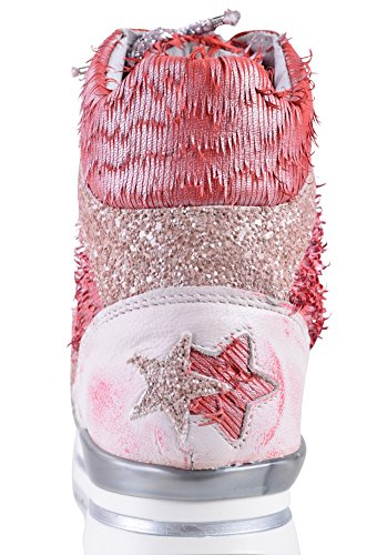 Light Salmon Sneaker Pink Red Pink Shoes Gold Women's 2Star 38 Leather Light w4v6Aq6x0Y