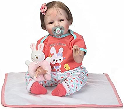 21/'/' Simulation Baby Doll Newborn Soft Handmade Baby Toy Can Laugh