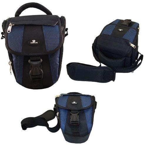 Case4Life Black/Blue DSLR / SLR Camera Case Holster Bag for Nikon SLR D Series - D3100, D3200, D3300, D3400, D4, D40, D5, D500, D5100, D5200, D5300, D5500, D700, D750, D7100, D7200, D800, D810, D810A