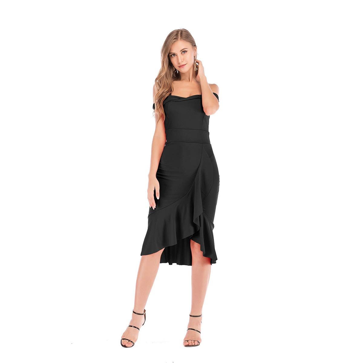 Amazon.com: Vestido de mujer 2019 de moda europea y ...