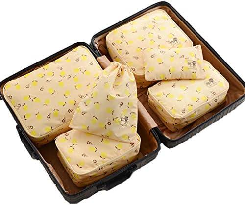 6セットパッキングキューブ、パッキングオーガナイザースーツ収納袋旅行ストレージウォッシュバッグ服下着収納袋サブパッケージポータブル,B