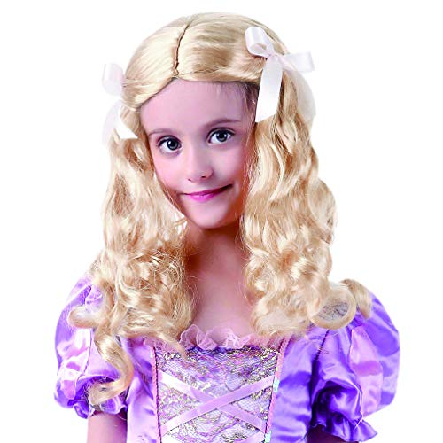 STYLER Long Curly Costume Child Wig - Synthetic Girl Wig for Halloween Costume (Hair Styler For Toddlers Free)