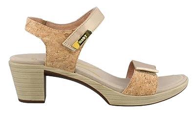 4074fc8c32f NAOT Footwear Women s Intact Champagne Lthr Cork Lthr Gold Threads Lthr  Heel 41 M