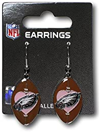 Philadelphia Eagles Love Football Dangle Earrings