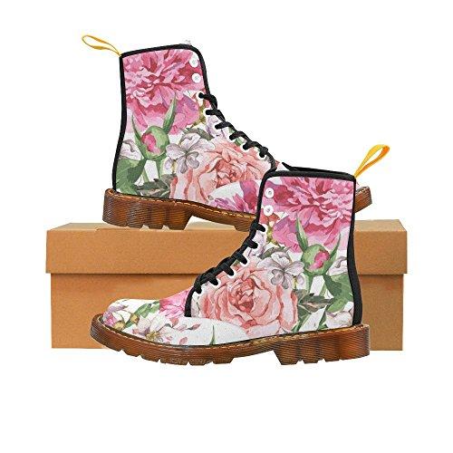 D-story Shoes Vintage Acquerelli Fiori Che Sbocciano Fahion Stivali Da Donna