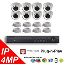8CH NVR PoE 4K OEM Hikvision LTS Security Surveillance 4MP IP Camera Kit Package