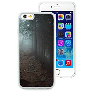 Fashionable Designed Cover Case For iPhone 6 4.7 Inch TPU With Foggy Path Through The Woods Nature Mobile Wallpaper (2) Phone Case