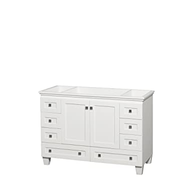Wyndham Collection Acclaim 48 Inch Single Bathroom Vanity In White, No  Countertop, No Sink
