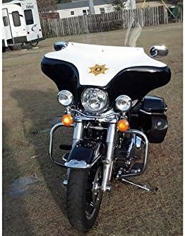 Sunny Detachable Fairing 6x9 White 2 Speaker For Harley Davidson Road King 94 UP