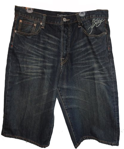 Men's Ed Hardy Shorts Denim McQueen Wash Size 36