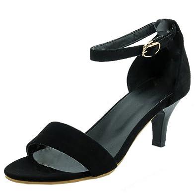 TAOFFEN Damen Sandalen Schuhe mit Absatz  37 EUBlack