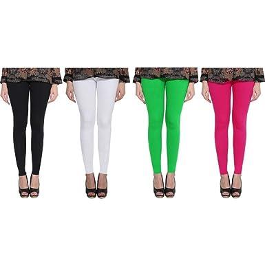 9bb6779331 Girls Shopping Cotton Lycra Plain Ankle Length Leggings for Womens/Girls  (Size - Small