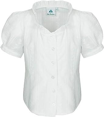 Isar-Trachten Marie - Blusa para niña con bordados, color blanco, talla 98-152.: Amazon.es: Ropa y accesorios