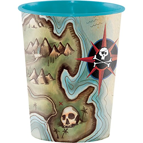 Pirate's Map Keepsake Plastic Cups, 8 ct -