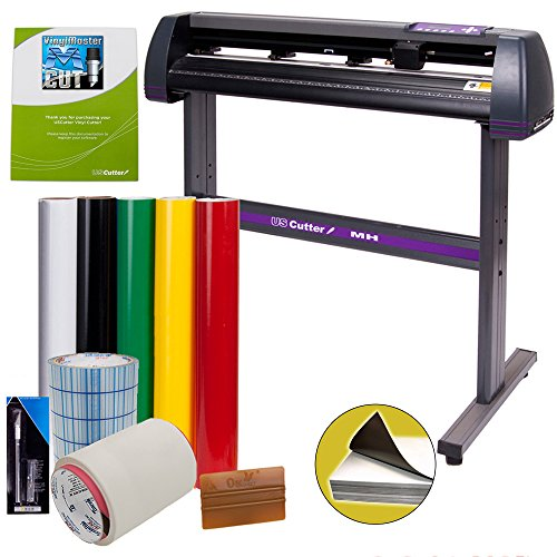 Vinyl Cutter USCutter MH 34in Bundle - Sign Making Kit w/Design & Cut Software, Supplies, ()