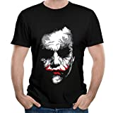 Loly Brand Men's Joker The Dark Knight Heath Ledger Funny Short-Sleeve T-shirt L