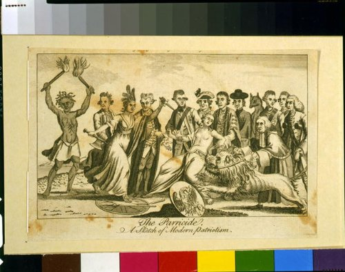 Photo: The parricide A sketch of modern patriotism,1776,Britannia,Feathered Headdress (Feathered Headdress)