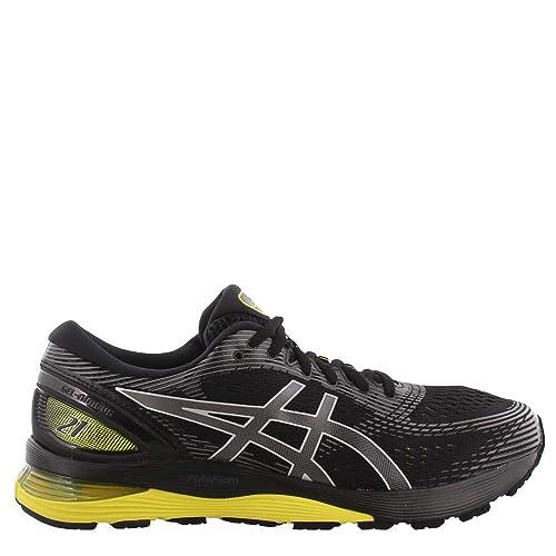 rabatt butik bästa priserna pålitlig kvalitet ASICS - Herren Gel-Nimbus 21 (2E) Schuhe, 46.5 2E EU, Black/Neon ...