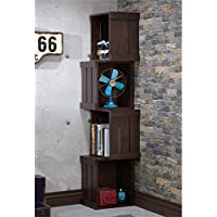 Furniture of America Forlan Bookcase in Vintage Walnut