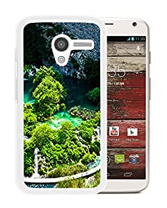 Unique DIY Designed Cover Case For Motorola Moto X With Plitvice Lakes National Park Nature Mobile Wallpaper (2) Phone Case
