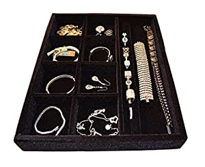 Amazon.com: Jewelry Drawer Organizer, Wood and Velvet Tray