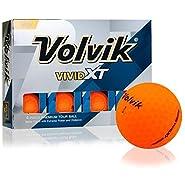 Volvik Vivid XT Matte Orange Golf Balls